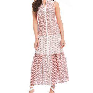 Belle Badgley Mischka Embroidered Maxi Dress